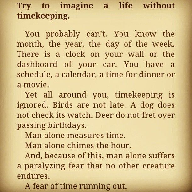 Try to imagine a life without timekeeping - The Time Keeper by Mitch Albom