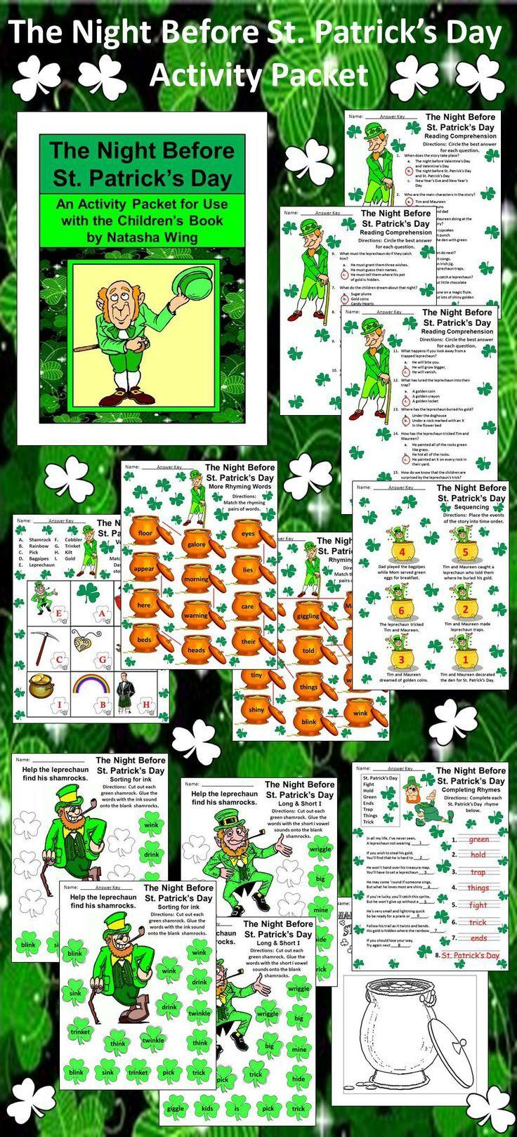 4231 besten St. Patrick\'s Day Language Arts Ideas Bilder auf ...