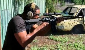 Will Smith shooting an AR15