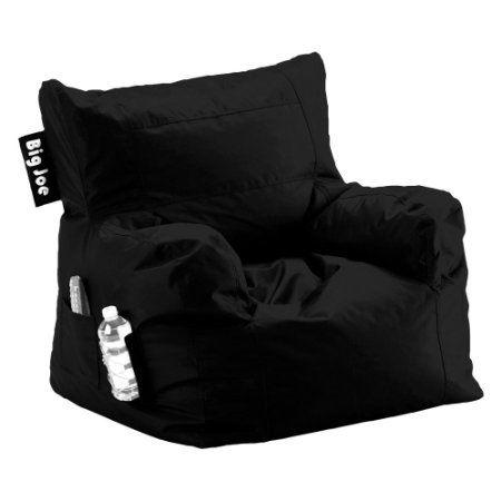 Amazon.com - Big Joe Dorm Chair, Limo Black - Bean Bag Chairs