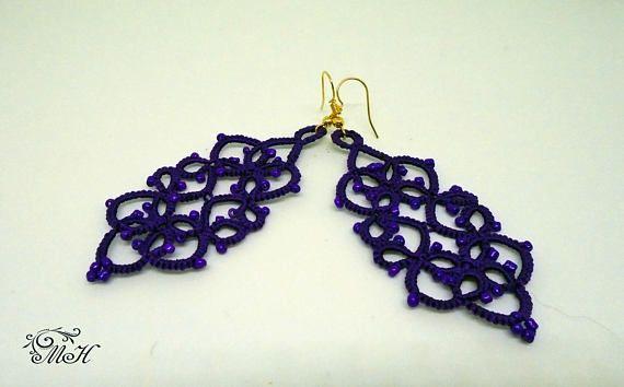 Dark Purple Earrings Gift Girlfriend Birthday Gift Purple Mom