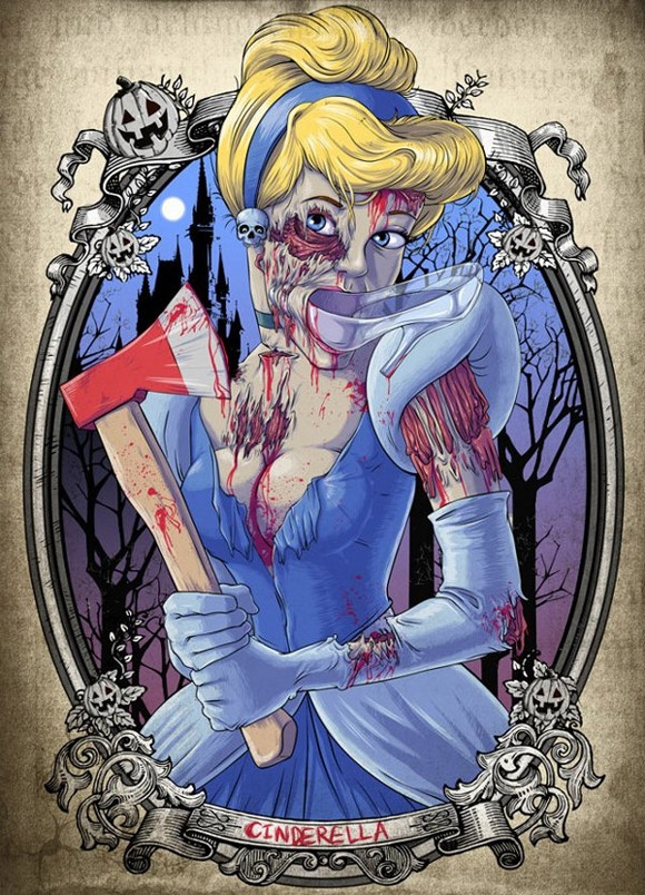 Distorted Images of Disney Princesses-Distorted is putting it lightly. That's some gruesome Disney.