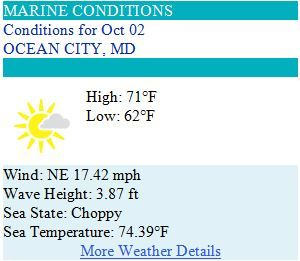 Ocean City Maryland Weather Forecast for Thursday, October 2nd, 2014 - Picture perfect from sunrise to sunset...  #ocmd