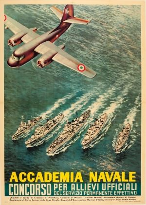 Academia Navale Italy Naval Academy 1957 - original vintage poster listed on AntikBar.co.uk