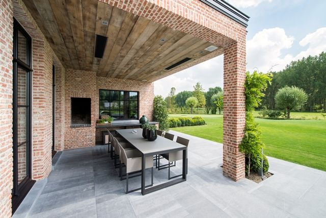 Kvr voegwerken kaleien kvrvoegwerken 32 0496 602623 meer foto 39 s van realisaties for Overdekt terras model