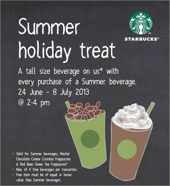 summer holiday treats await at Starbucks!
