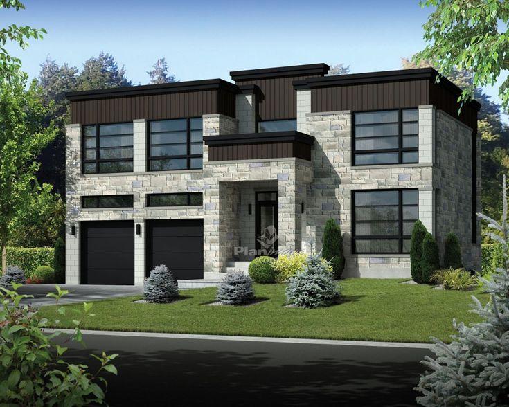 les 25 meilleures id es concernant garage toit plat sur pinterest haus garage bois toit plat. Black Bedroom Furniture Sets. Home Design Ideas