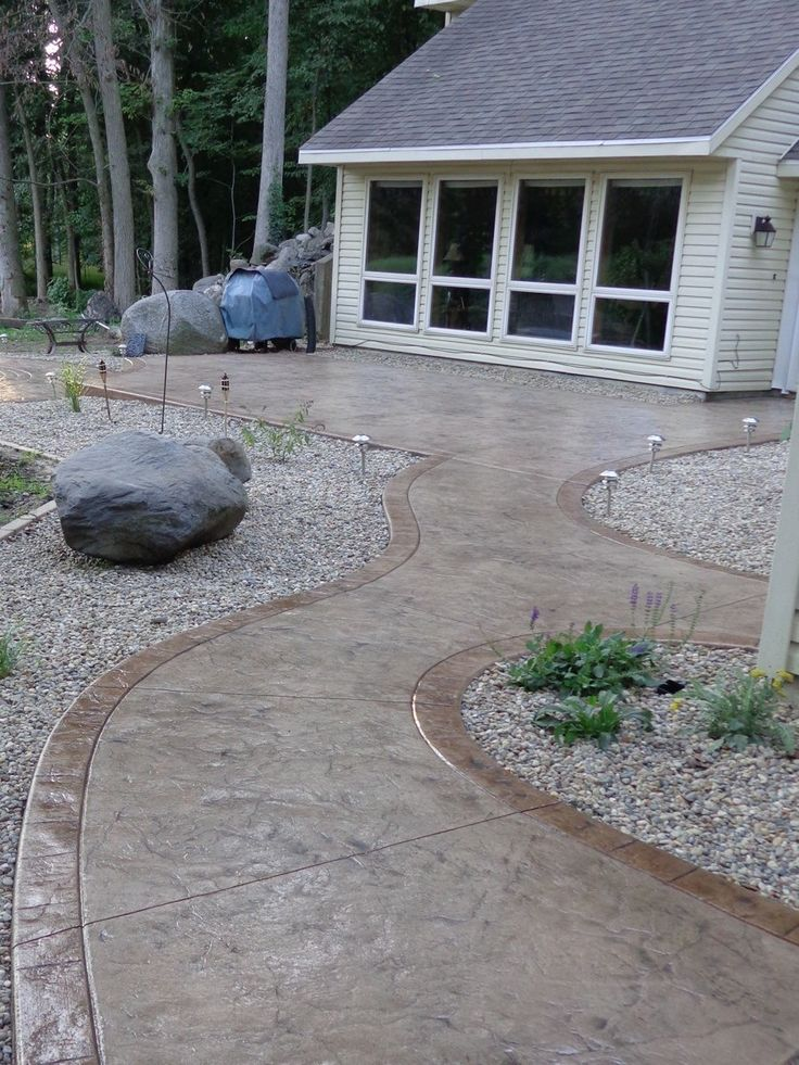 best 25 stamped concrete walkway ideas on pinterest. Black Bedroom Furniture Sets. Home Design Ideas
