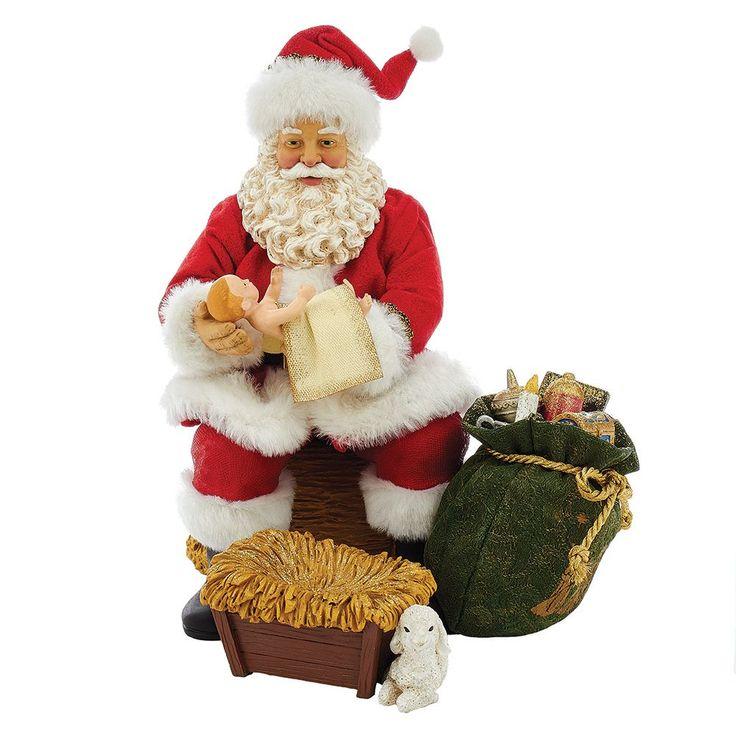 Kurt Adler 10-Inch Fabriché Musical Nativity Santa Set of 2 (10-Inch Fabrich Musical Nativity Santa Set of 2), Black night