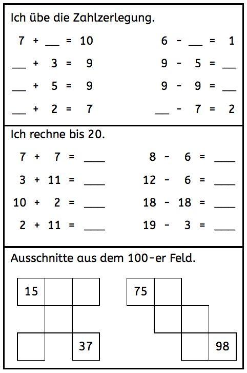 Beherrschen Kinder den Zahlenraum bis 20 und damit meine ich, dass sie die Zahlzerlegung bis 10 in- und auswendig können sowie bis 20 sicher ohne und mit Zehnerüberschreitung rechnen können, weiterlesen →