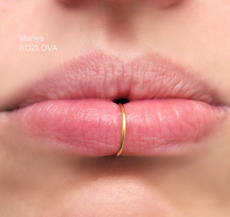 10mm gold color smooth lip cuff ring fake lip ring - Lippenpiercing ring ...