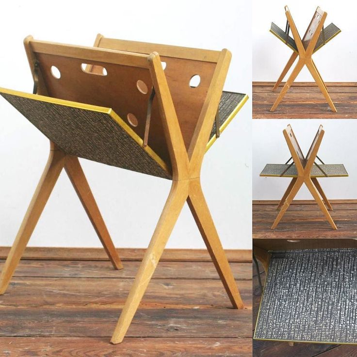 1950s LOVELY Austrian vintage news stand / folding side table. Wood and iron & brass for the metallic parts. just LOVE the design and combiend functionality. Very good vintage condition. A few marks on the wood on the legs nothing major. A sanding & vanishing would not do any arm but its optional. H: 23  - W: 17 - D: 20. 260 $ shipping included. Feel free to ask for more pictures via DM. We supply both interior decorators and the public alike with hand picked vintage treasures. We are now…
