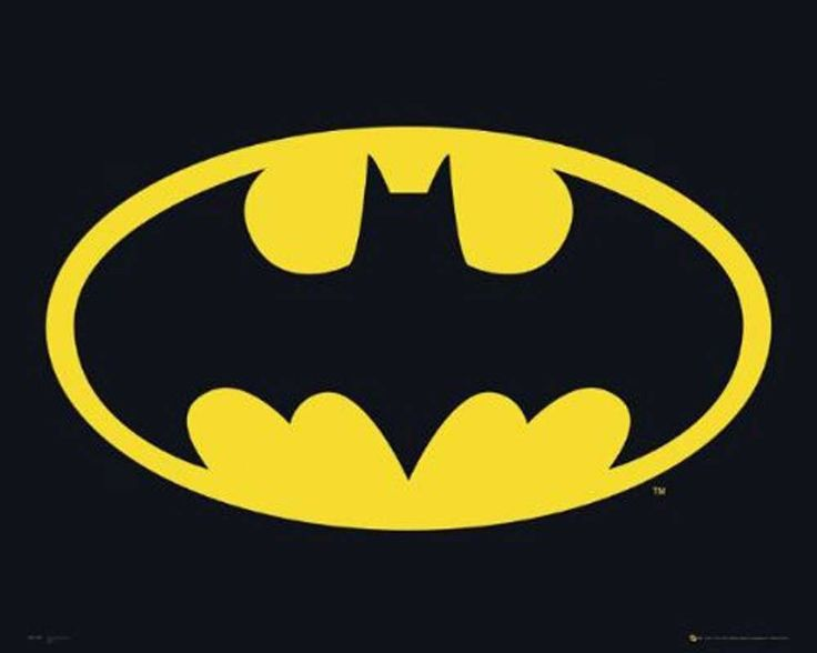 #Batman - Classic #Logo 24x36 Poster Print Image #batmanlogo