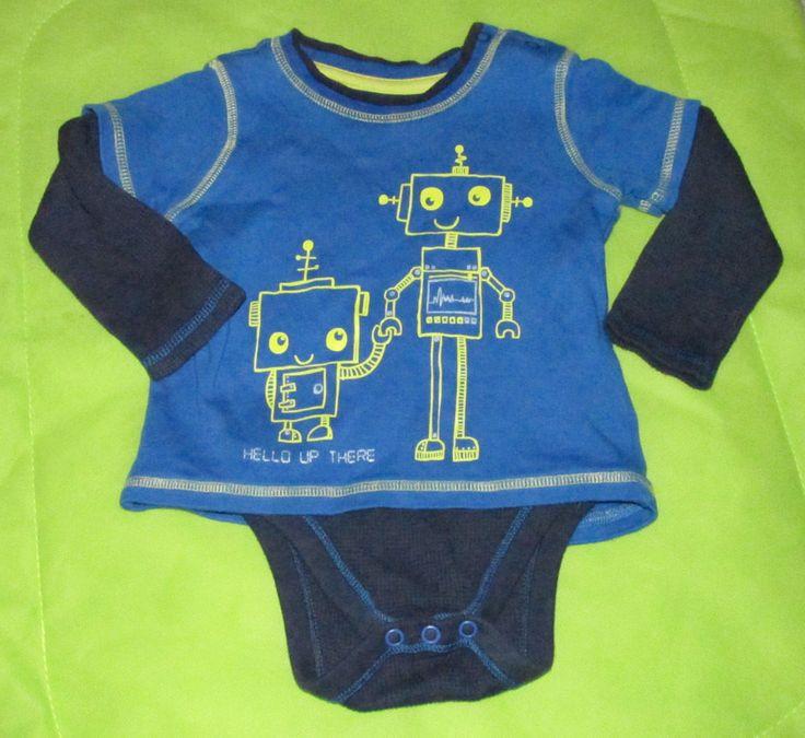 Baby boy 6-9 months long sleeve vest George #ebay #babywear