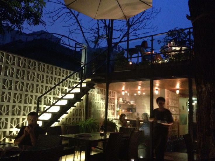 Good albeit pricey Vietnamese in a stunning courtyard. Best for warm weather.