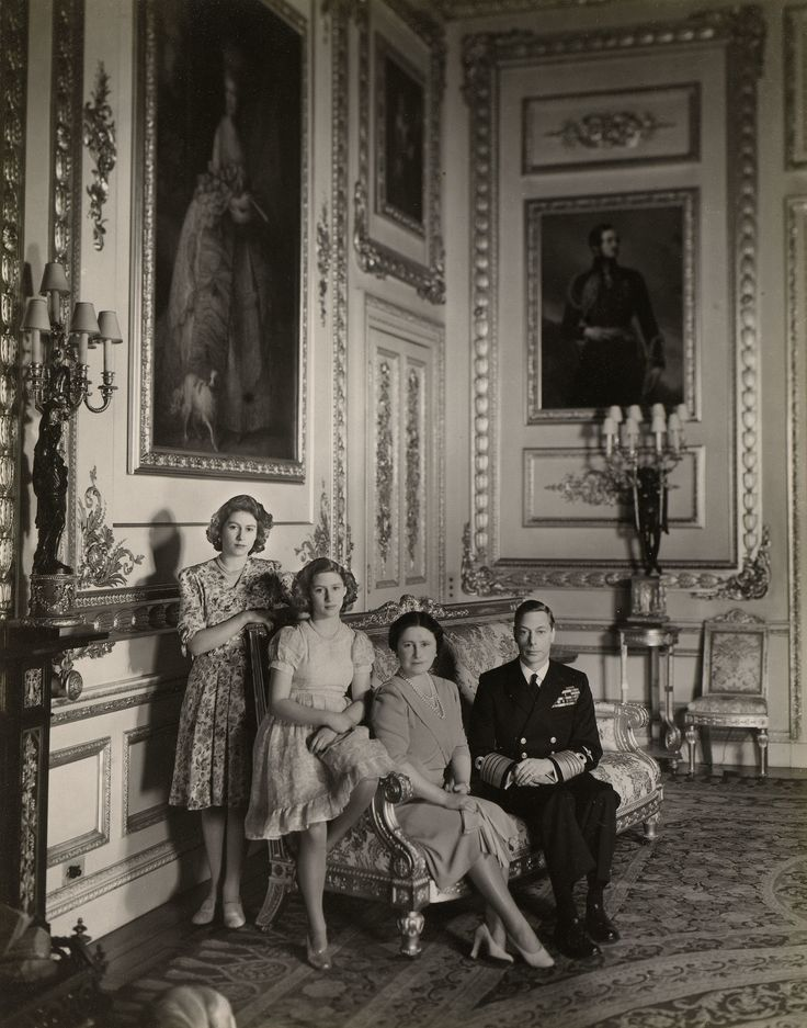 King George VI, Queen Elizabeth, Princess Elizabeth and Princess Margaret, 1943