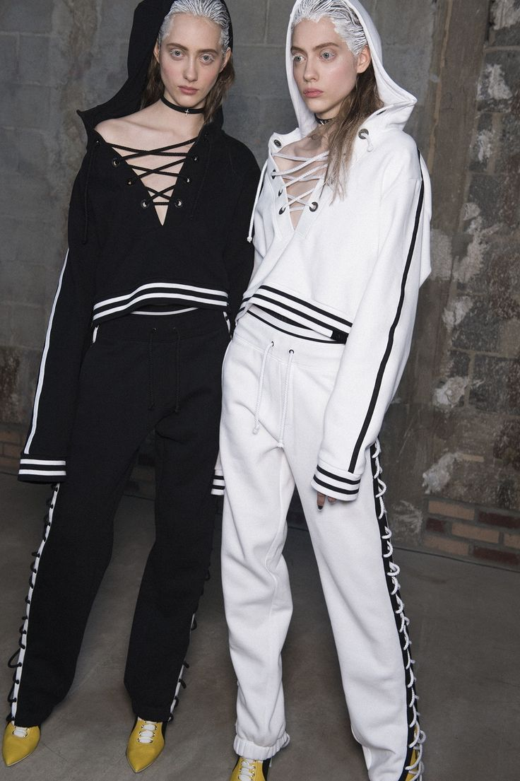 Check out backstage images of the Bad Gal's killer cast (which included both Hadid sisters and three current i-D cover stars) rocking her dark take on modern sportswear.