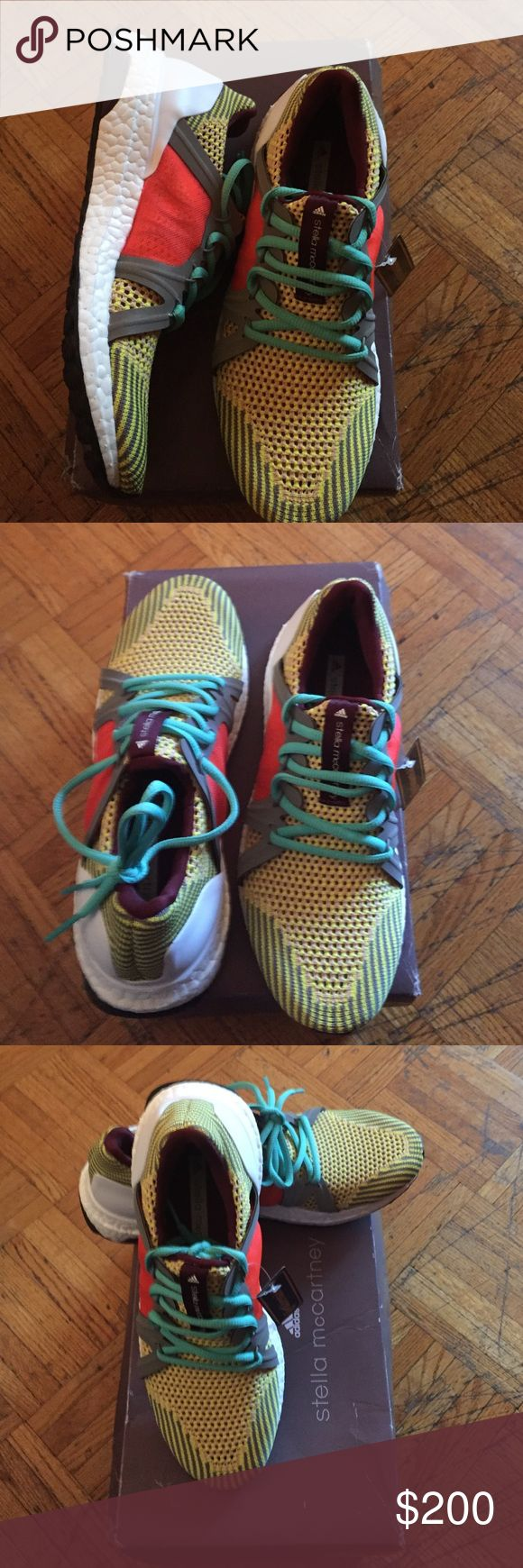 ADIDAS STELLA MCCARTNEY ULTRA BOOST WOMEN SHOES Brand new in the box. ULTRA BOOST SHOES STANDOUT RUNNING SHOES FEATURING BOOST AND DESIGNED BY STELLA MCCARTNEY. Adidas Shoes Athletic Shoes