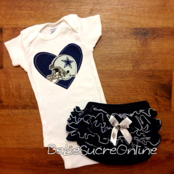 Dallas Cowboys helmet Girls Outfit by BebeSucreOnline on Etsy
