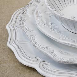 Instead of fine china, we registered for this Italian dinnerware from Vietri.