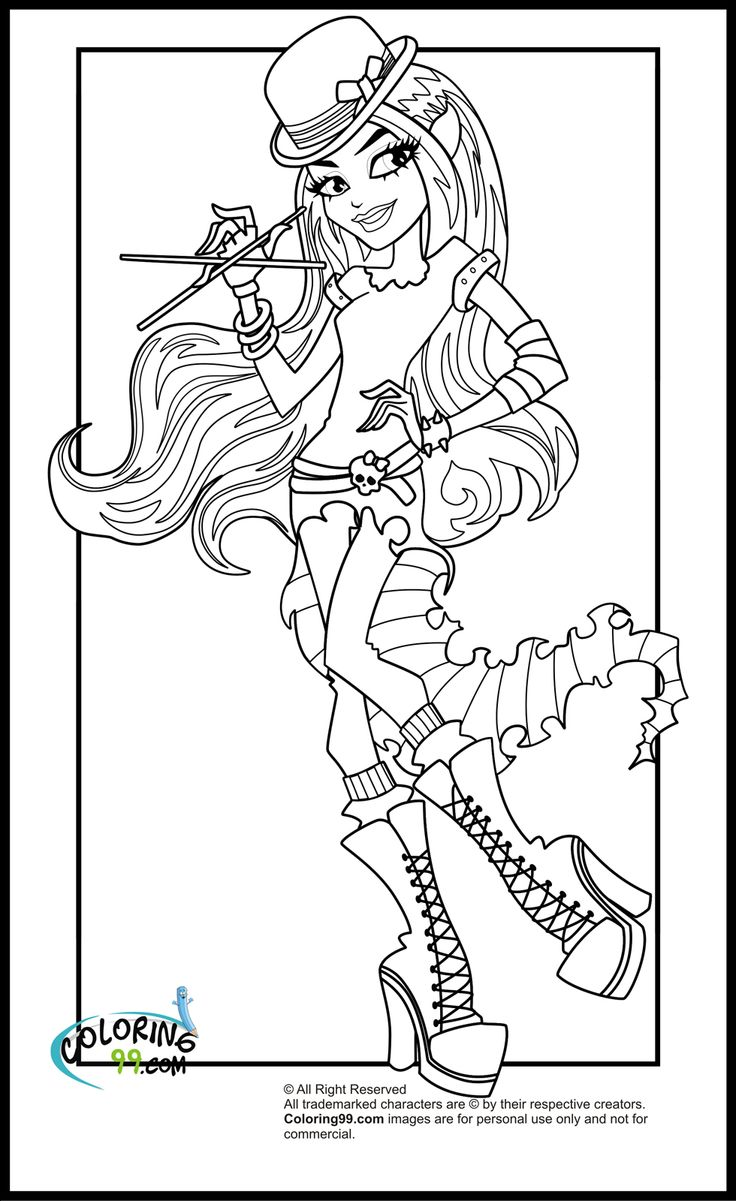 9 best monster high coloring pages forquilt images on pinterest