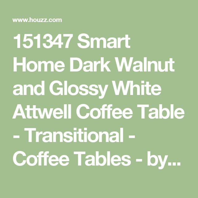 151347 Smart Home Dark Walnut and Glossy White Attwell Coffee Table - Transitional - Coffee Tables - by Smart Home, LLC