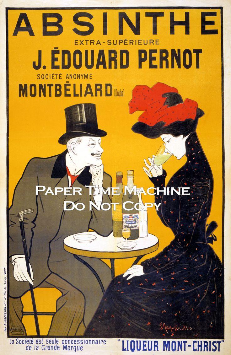 Absinthe French Liquor Vintage Art Print - Digitally Remastered Fine Art Print / Poster. $14.99, via Etsy.