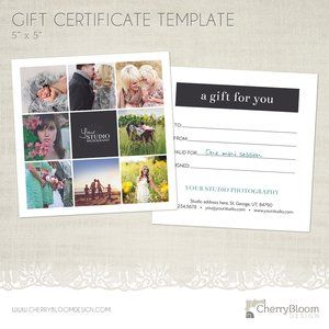 FREE Gift Certificate Template! Come snag it! www.cherrybloomdesign.com