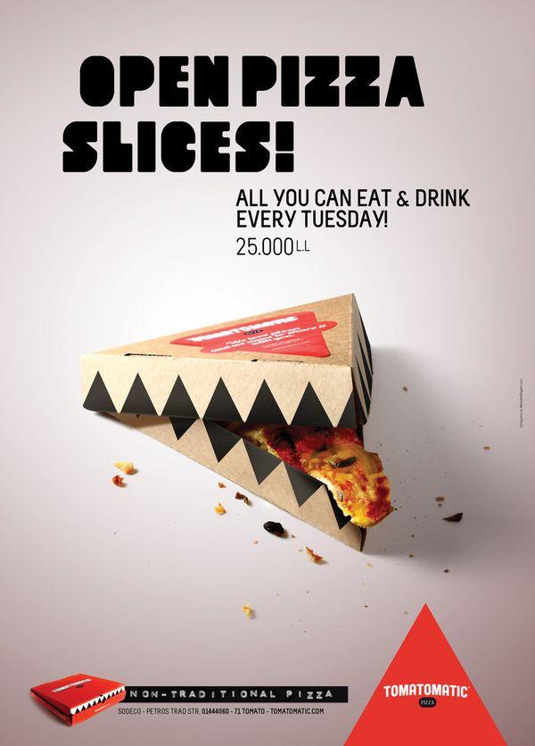 Tomatomatic Pizza by Iea Heshme /// una pizza deliciosa que la caja pasa a ser protagonista del deseo