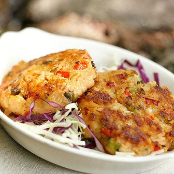 Smoked Trout Cakes, fresh out the lakes