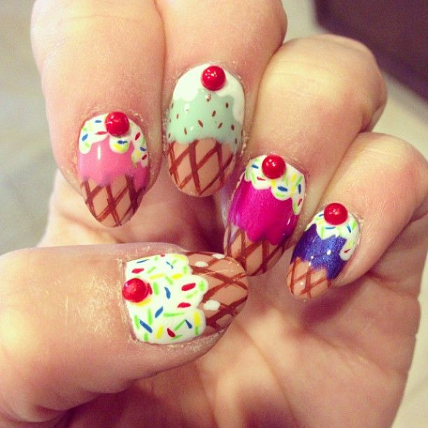 Ice Cream Nails: 60 Best Ice Cream Nail Designs Images On Pinterest