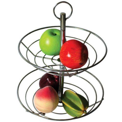 CostMad–2/3estantes FRUTAS VERDURAS cesta cuenco de alambre de acero accesorio de soporte soporte de almacenamiento (cromado), acero, cromado, 2 niveles ✿ ▬► Ver oferta: https://cadaviernes.com/ofertas-de-fruteros-de-cocina/
