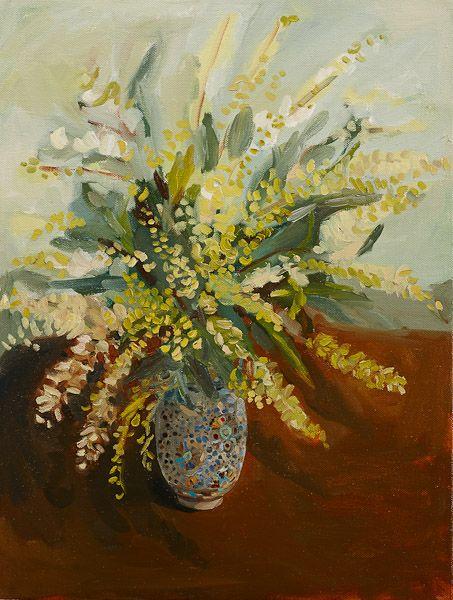 Laura Jones, Moroccan Vase with Grevillea 2013, oil on linen,  110 x 84 cm
