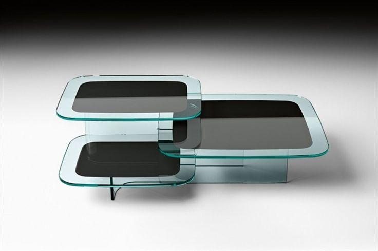 GlazenDesignTafel.nl | Glazen salontafel Paesaggi | FIAM | Italian design | Glass table by Angeletti e Ruza | vidre glastoepassingen, Leiden
