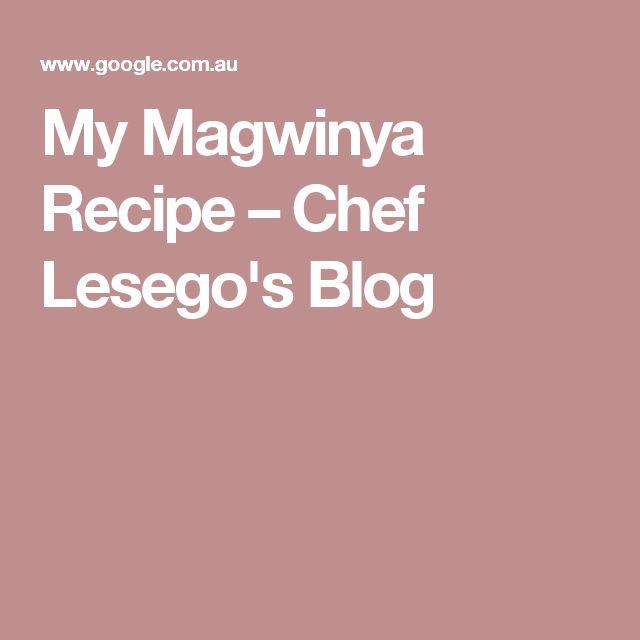 My Magwinya Recipe – Chef Lesego's Blog