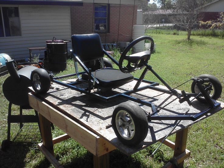 Me and a friend got tired of being bored and we don't have money to go out so we decided to build a go kart from scratch using materials we found around the shop. We custom built every single part on this go kart, from the steering to the brakes. This project took 3 days and at a total cost of $0.
