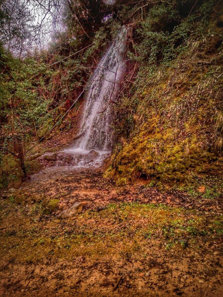 Waterfall in ladona lake, arkadia