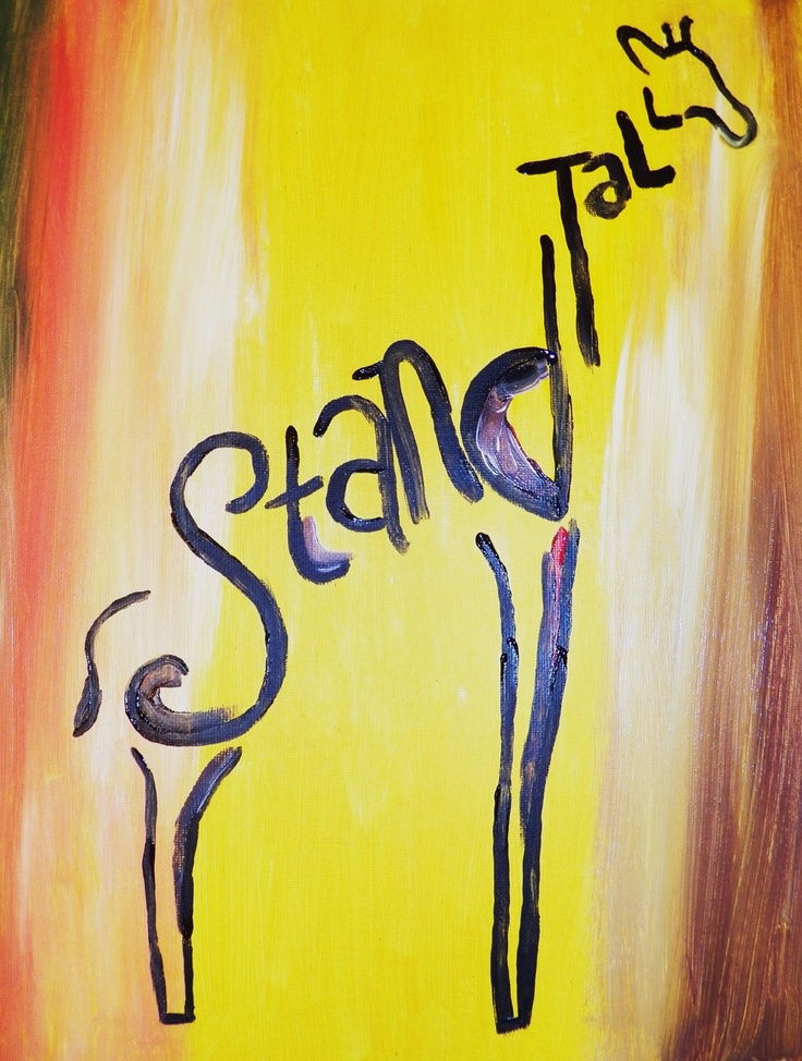 Stand Tall Giraffe Painting by TorileesArtandThings on Etsy. Love this!