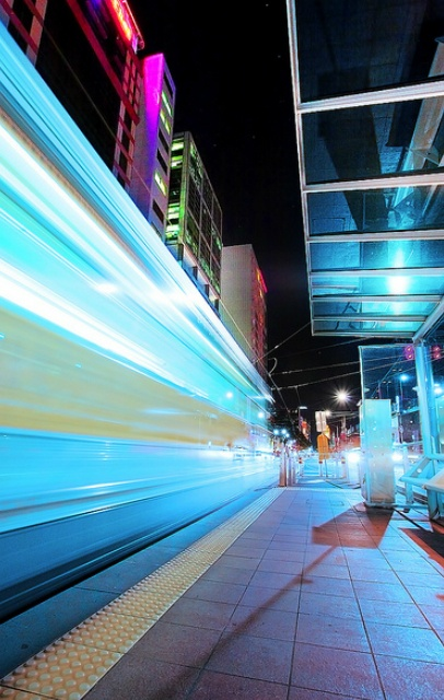 Night Tram, Melbourne