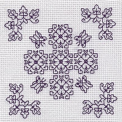 Butterflies Blackwork Kit by Holbein Embroideries