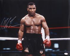 Mike Tyson Signed in the Boxing Ring 16x20 Photo (JSA COA)