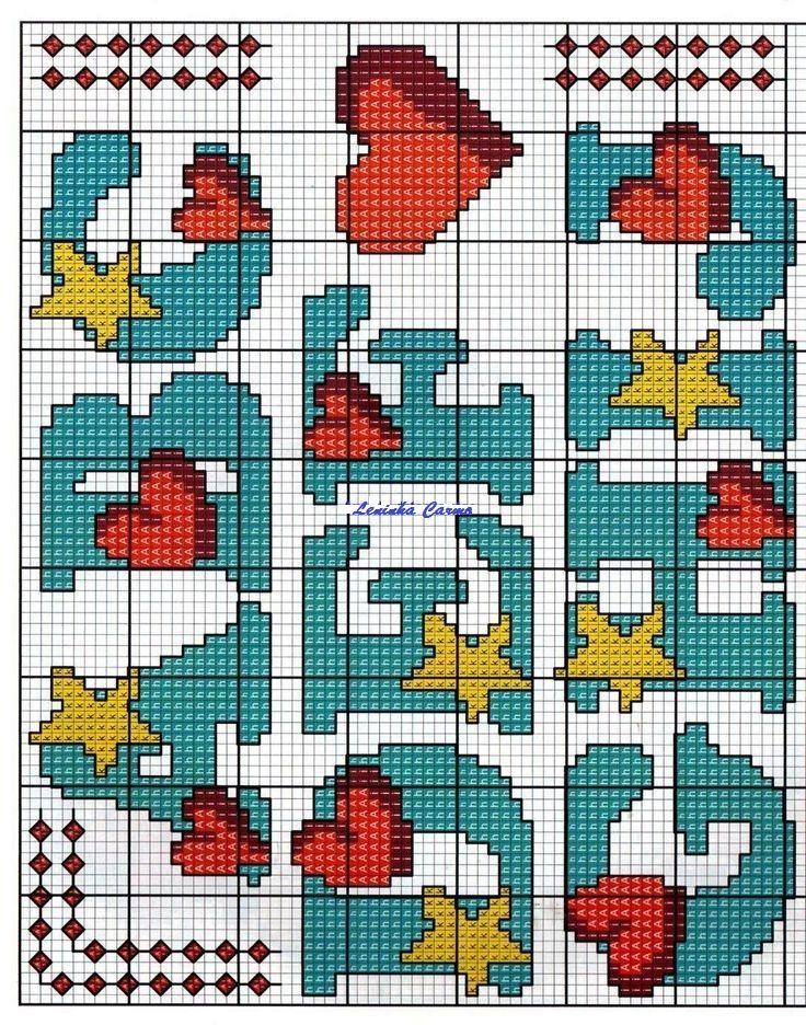 ABC mit Herzen und Sternen 1
