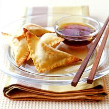 Crab Rangoon - Weight Watcher's Rated 4 Stars - Suggest spraying with cooking spray to help crisp, substitute spinach