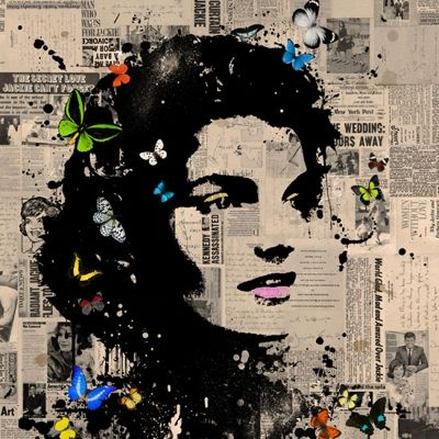 Jacqueline Kennedy (Giclee with Silkscreen Signed Limited Edition of 75) by HYBRID