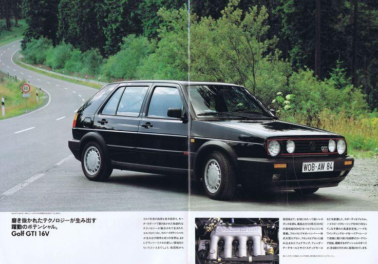 自動車CM大全 - VW・ゴルフ2 GTIのカタログ(1990年・日本語版)