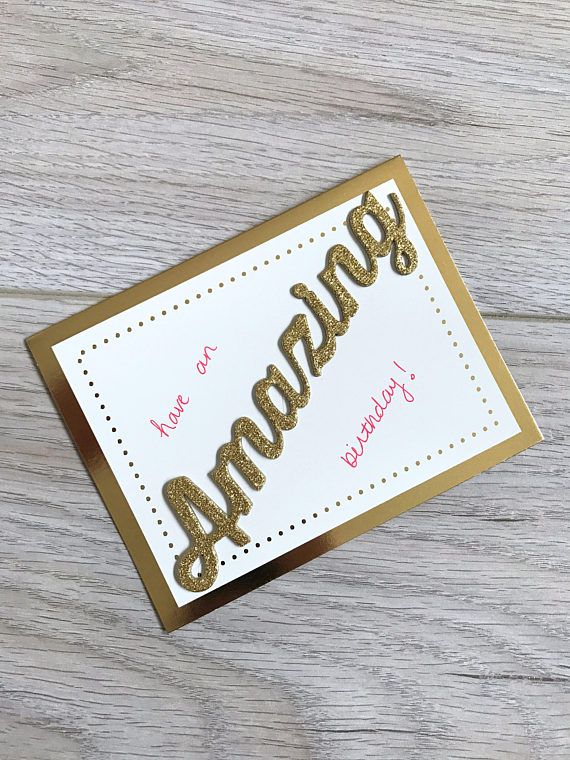 Handmade Card // Birthday Card // Red and Gold