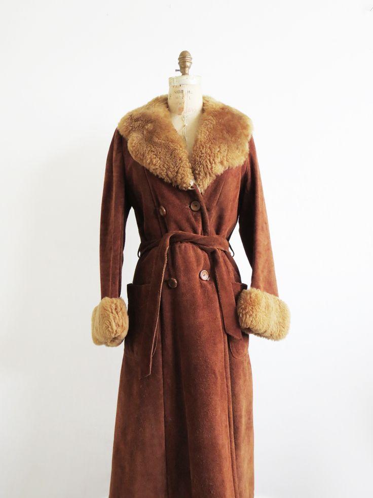 1970's Faux Fur Suede Coat SOLD