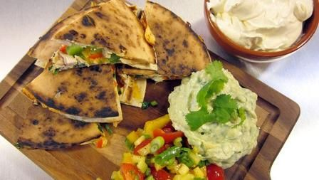 7 Minute Supper - Chicken & Cheese Quesadillas