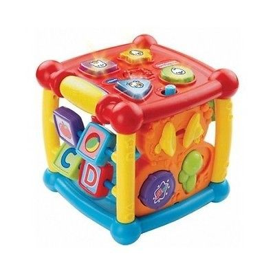 Busy Learner Activity Cube Toy Teach Kids Children Educational Lights Sounds NEW - BUY NOW ONLY 22.79