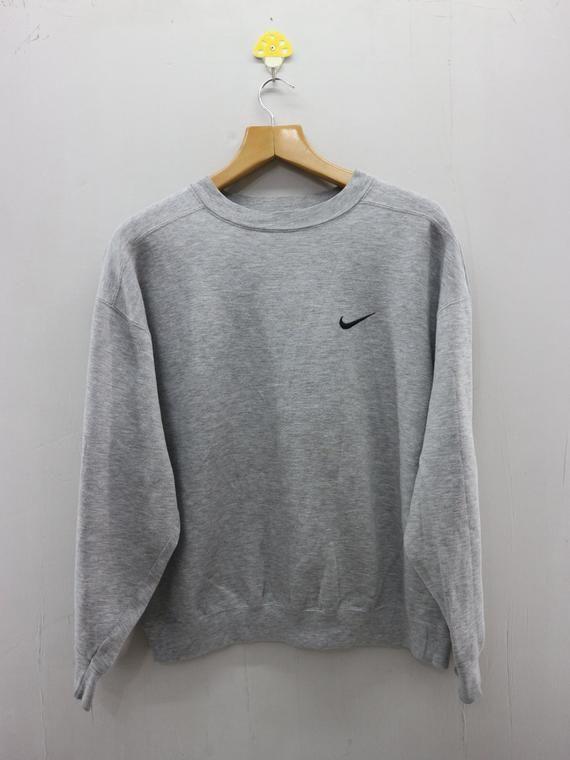 Vintage Nike Minimalist Logo Sweatshirt Pull Over Sport Fashion Sweater Vintage Nike Sweatshirt Vintage Nike Sweater Fashion